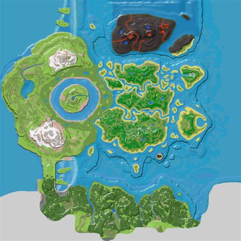 Resource Map (The Center) - Official ARK: Survival Evolved