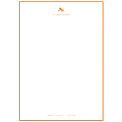 Illustrated A4 Writing Paper with Footer & Border | Prantl