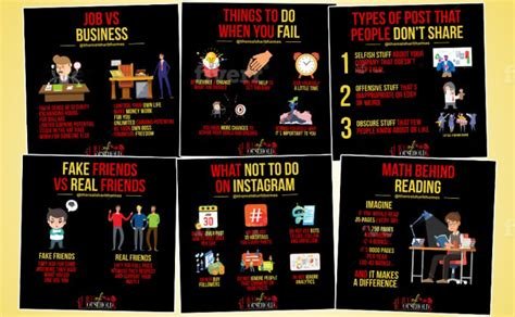 We will design business success tips infographics for