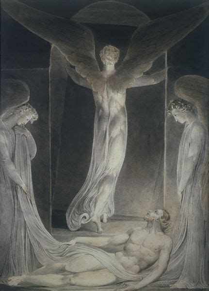 The Resurrection: The angel rolling away the stone from