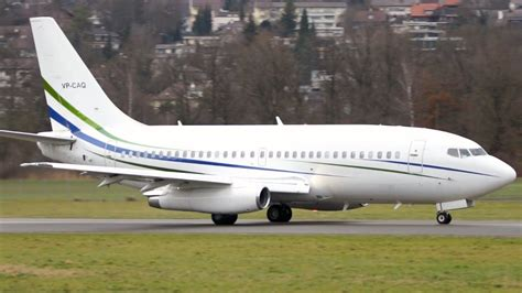 Boeing 737-200 ADV Take Off at Airport Bern-Belp - JT8D