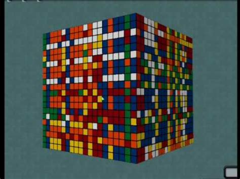 20x20x20 Rubiks Cube Solve 88 Seconds! - YouTube