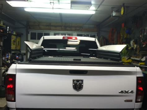 Black Heavy-Duty Truck Bed Cover on Ram with RamBox | Flickr
