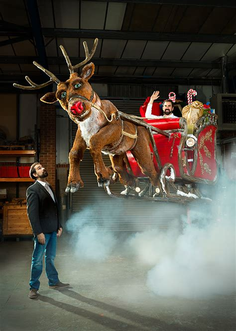 Magical Flying Special Effects, Rudolph & Santa's Sleigh